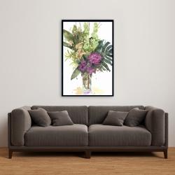 Framed 24 x 36 - Tropical flower assemblage