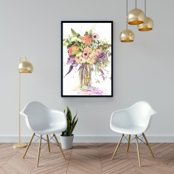 Framed 24 x 36 - Romantic bouquet