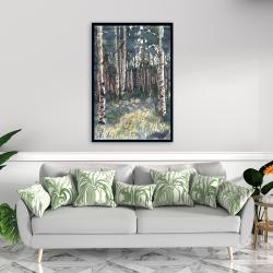Framed 24 x 36 - Birches