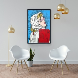 Framed 24 x 36 - Pop art woman