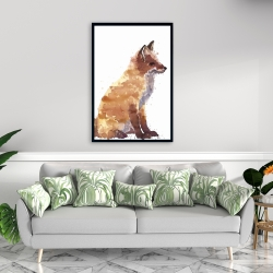 Framed 24 x 36 - Red fox