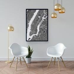 Framed 24 x 36 - New-york city plan
