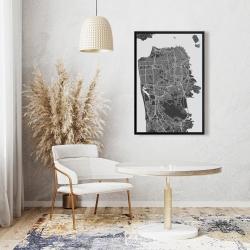 Framed 24 x 36 - San francisco city plan