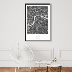 Framed 24 x 36 - Graphic map of london