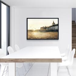 Framed 24 x 36 - Sunset at the beach