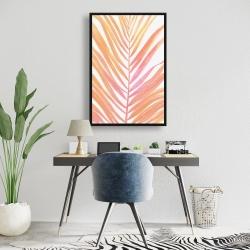 Framed 24 x 36 - Glam palm leaf