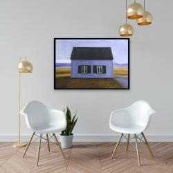 Framed 24 x 36 - Blue barn