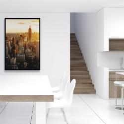 Framed 24 x 36 - New york city at sunset