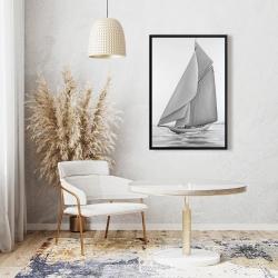 Framed 24 x 36 - Vintage sailing ship