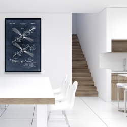Framed 24 x 36 - Blueprint of a fish lure