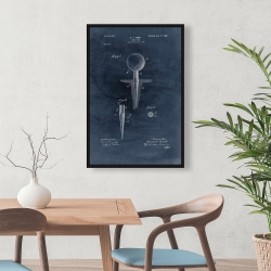 Framed 24 x 36 - Blueprint of golf tee