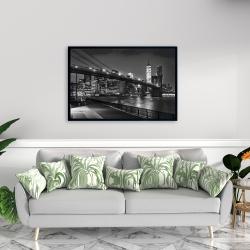 Framed 24 x 36 - City under the night