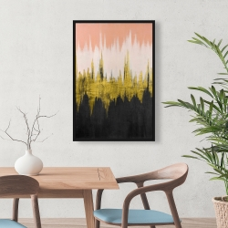 Framed 24 x 36 - Abstract zigzag