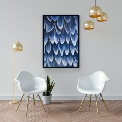 Framed 24 x 36 - Plumage blue