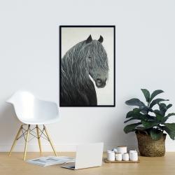 Framed 24 x 36 - Wild heart horse