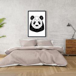 Framed 24 x 36 - Geometric panda