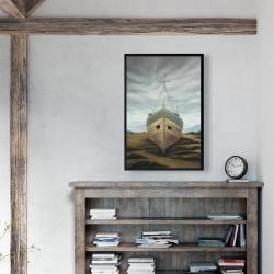 Framed 24 x 36 - Boat