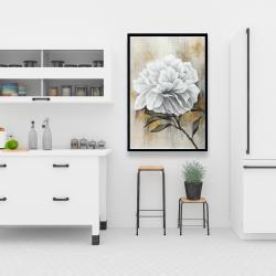 Framed 24 x 36 - White peony