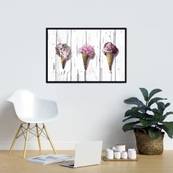 Framed 24 x 36 - Peony cones