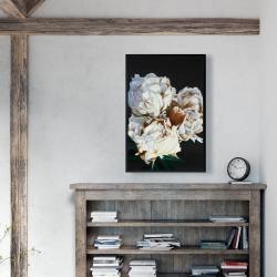 Framed 24 x 36 - Blooming peonies