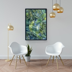 Framed 24 x 36 - Abstract succulents