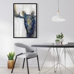 Framed 24 x 36 - Blue moose