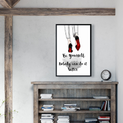 Framed 24 x 36 - Be yourself