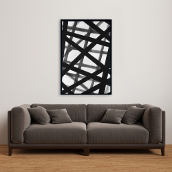 Framed 24 x 36 - Abstract bold lines