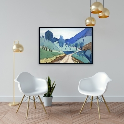 Framed 24 x 36 - Tuscany trail