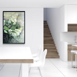 Framed 24 x 36 - White lilacs