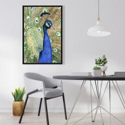 Framed 24 x 36 - Peacock
