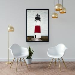 Framed 24 x 36 - Sankaty head lighthouse