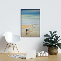 Framed 24 x 36 - Children at the beach