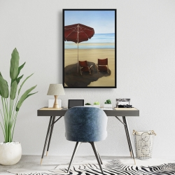 Framed 24 x 36 - Relax at the beach