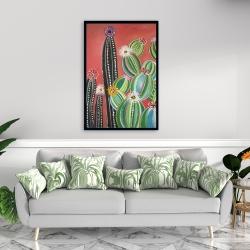 Framed 24 x 36 - Rainbow cactus