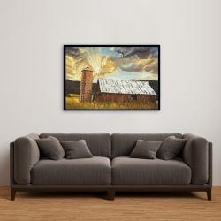 Framed 24 x 36 - Hay barn