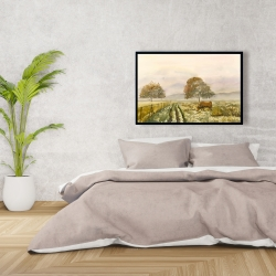 Framed 24 x 36 - Sweet morning in the countryside