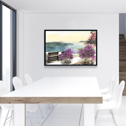 Framed 24 x 36 - Mediterranean sea view