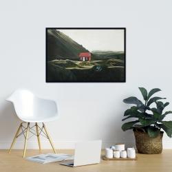 Framed 24 x 36 - Isolated shack