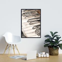 Framed 24 x 36 - Piano