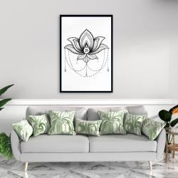 Framed 24 x 36 - Ethnic lotus ornament