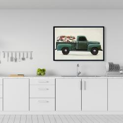 Framed 24 x 36 - Flowers farm truck