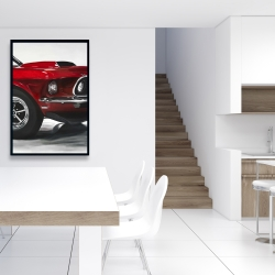 Framed 24 x 36 - Classic red car