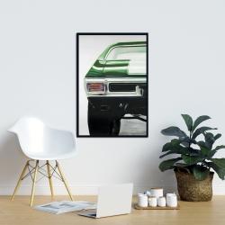Framed 24 x 36 - Classic dark green car