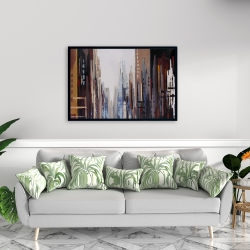 Framed 24 x 36 - Abstract buildings