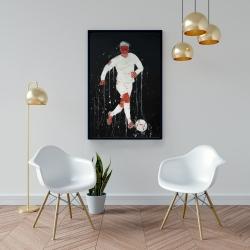 Framed 24 x 36 - Soccer player