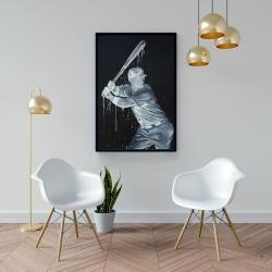Framed 24 x 36 - Baseball player