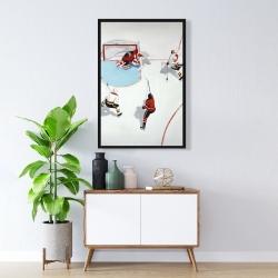 Framed 24 x 36 - Eventful hockey game