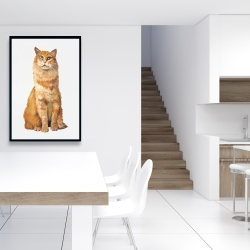 Framed 24 x 36 - Ginger cat