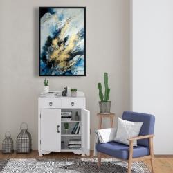 Framed 24 x 36 - Blue marble